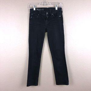 Madewell Rail Straight Black Jeans Sz 24 x 27